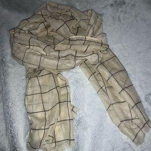 NWOT rachel pally grid scarf